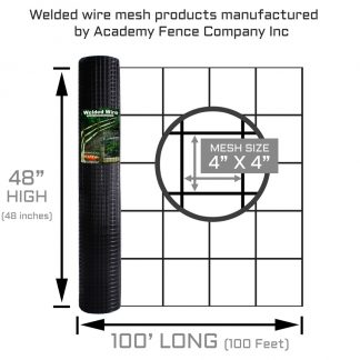 4x4 48x100 11G vinyl coated welded wire - products manufactured by academy fence company