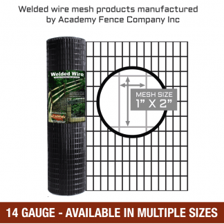 mesh size 1 inch by 2 inches - 14 Gauge - vinyl coated welded wire
