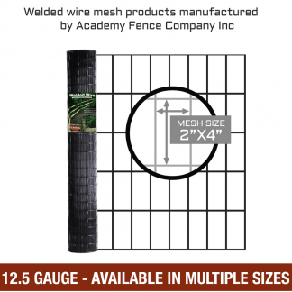 mesh size 2 inches by 4 inches - 12.5 Gauge vinyl coated welded wire