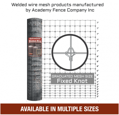 Graduated mesh galvanized deer fence welded wire