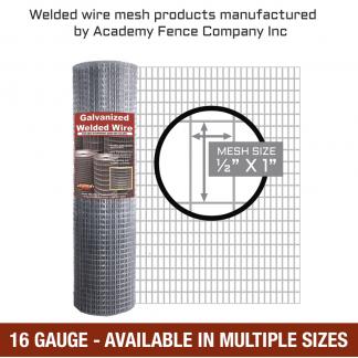 mesh size half inch by 1 inch - 16 Gauge - Galvanized welded wire