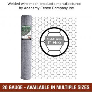 mesh size 1 inch hex - 20 Gauge - Galvanized hex netting or chicken wire