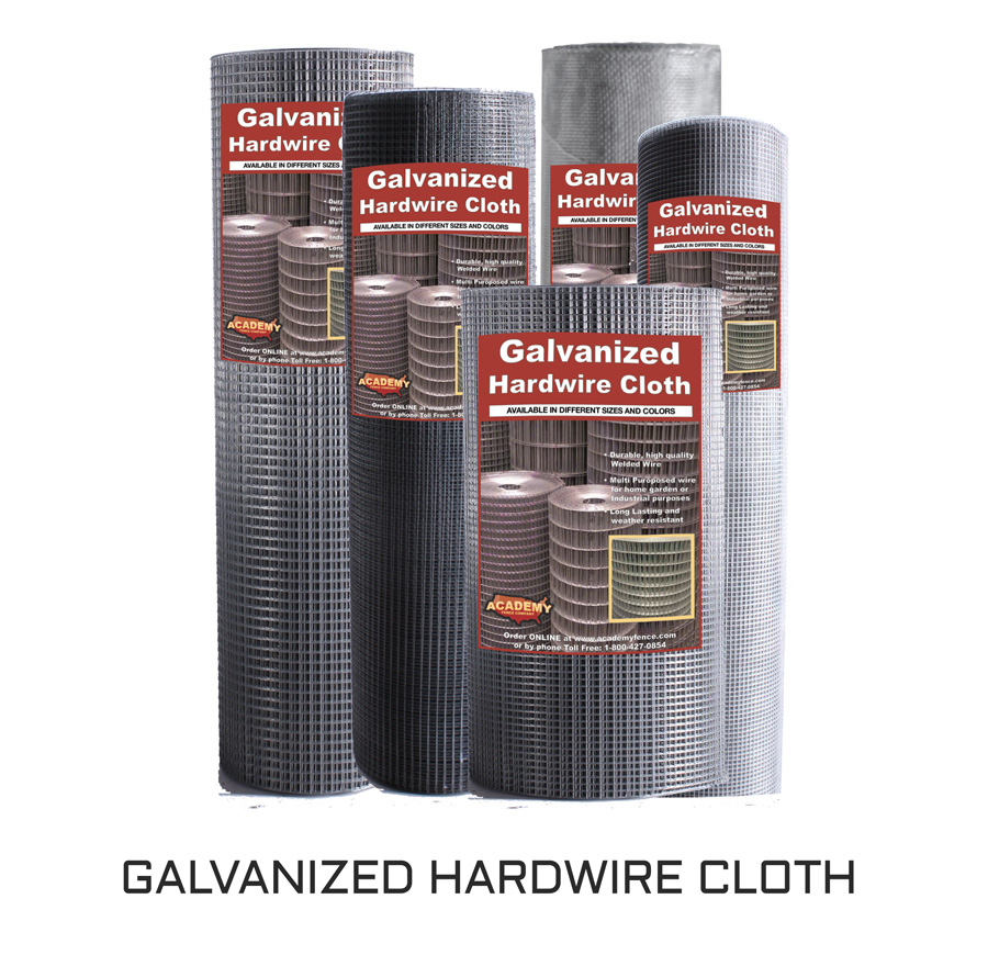 galvanized hardware or hardwire cloth category